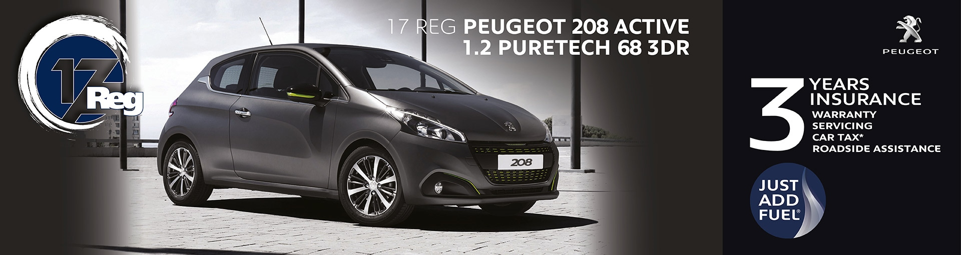 Peugeot 208 Just Add Fuel from 18 years old