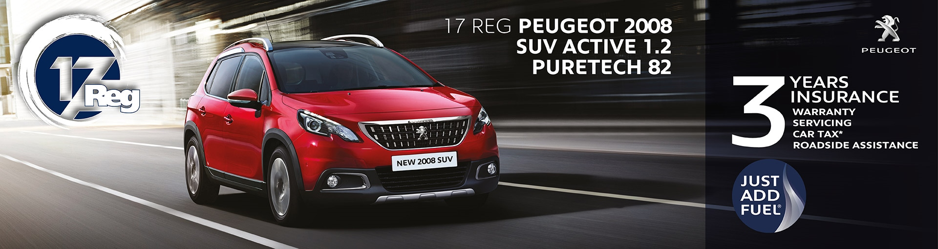 Peugeot 2008 SUV Just Add Fuel from 18 years old