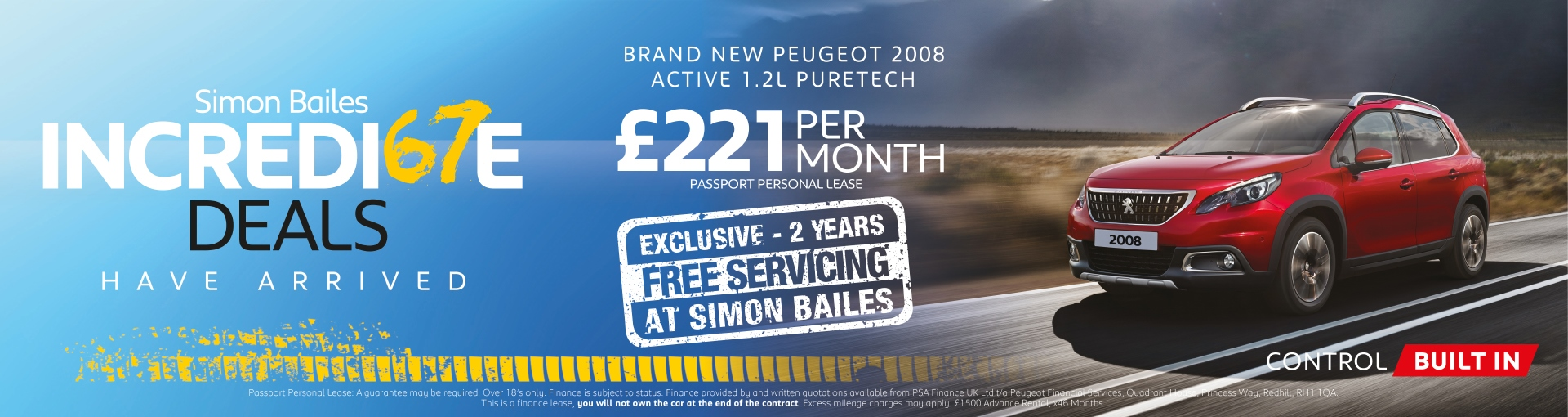 Peugeot 2008 SUV - £221 per month