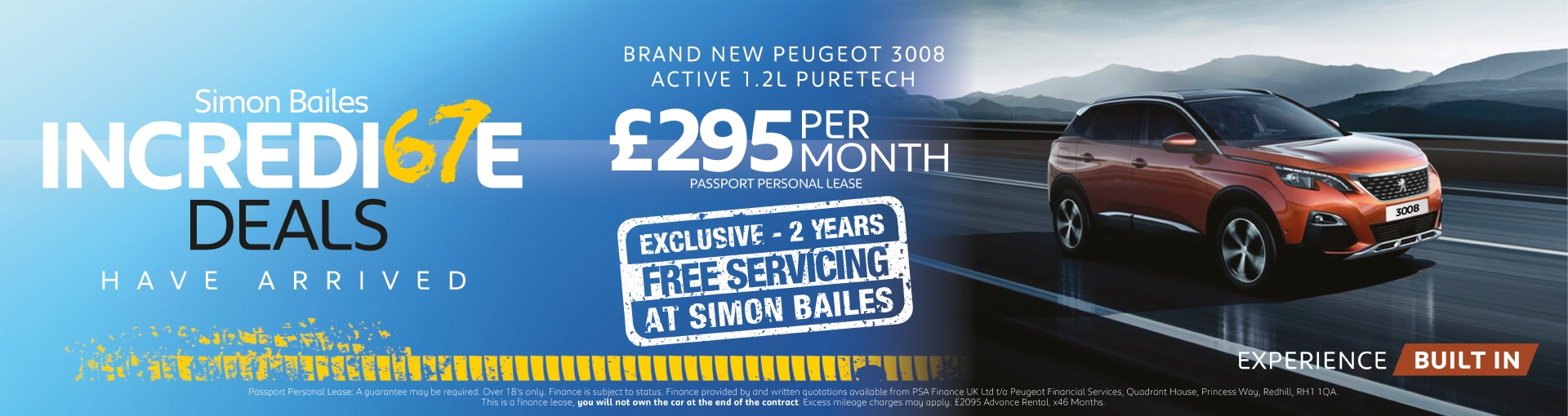 Peugeot 3008 SUV - £295 per month