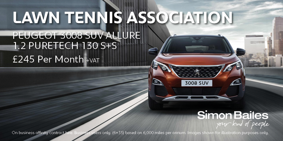Lawn Tennis Association Peugeot 3008 SUV Affinity