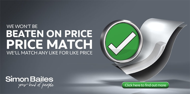 We won't be beaten on price - We'll match any like for like price