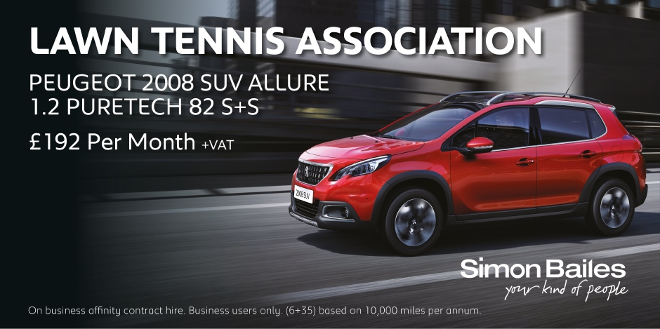 Lawn Tennis Association Peugeot 2008 SUV Affinity