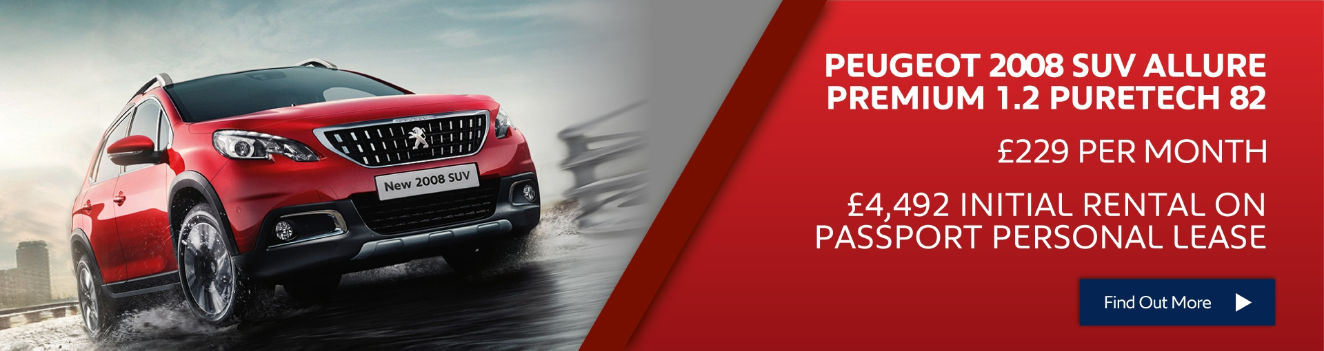 Peugeot 2008 SUV £229 per month