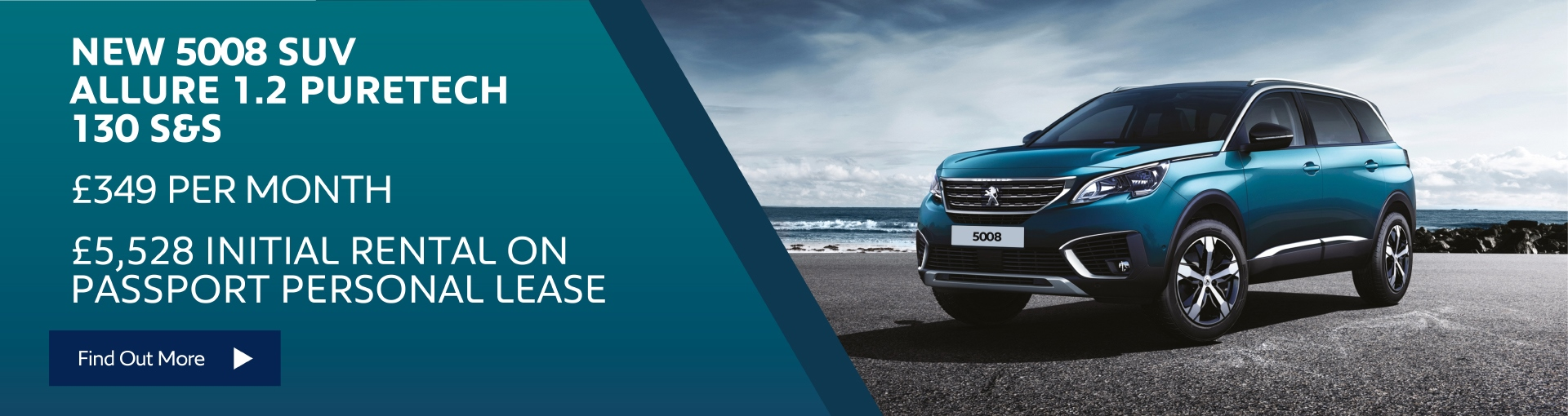 Peugeot 5008 SUV £349 per month