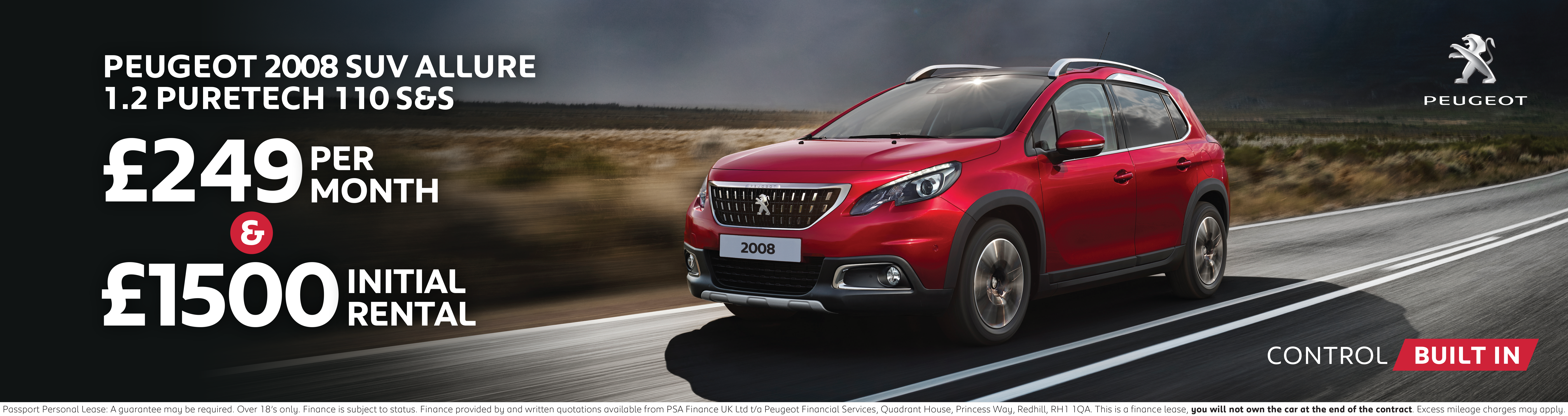Peugeot 2008 SUV Finance Offer