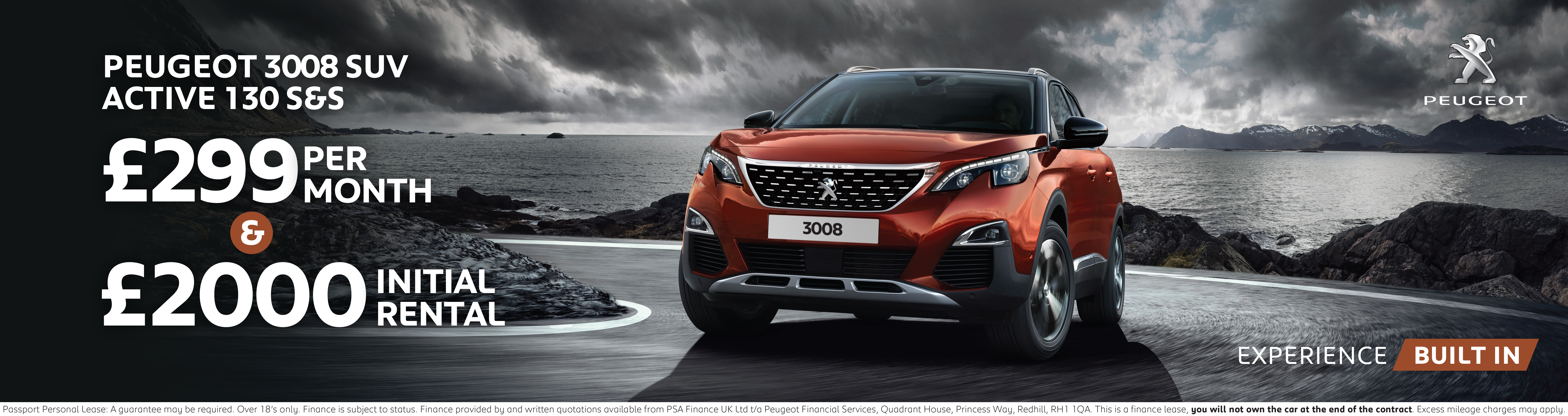 Peugeot 3008 SUV Finance Offer