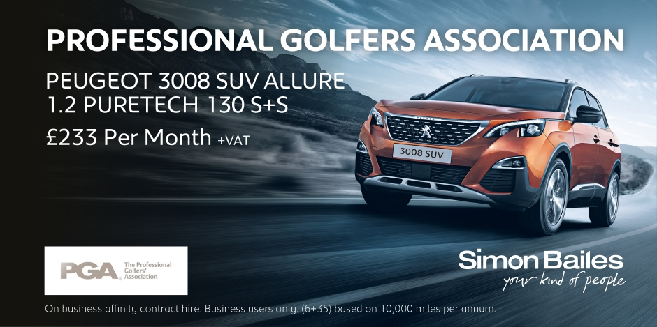 Professional Golfers Association Peugeot 3008 SUV Affinity